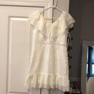 Bloomingdales Aqua white lace dress